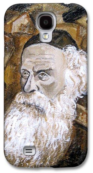 Jerusalem Paintings Galaxy S4 Cases - Alter Rebbe Galaxy S4 Case by Leon Zernitsky