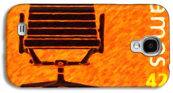 Empty Chairs Paintings Galaxy S4 Cases - Aluminum group chair Galaxy S4 Case by Lanjee Chee