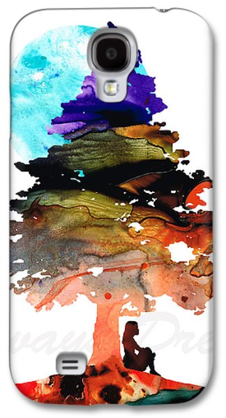 Little Girls Mixed Media Galaxy S4 Cases - Always Dream - Inspirational Art By Sharon Cummings Galaxy S4 Case by Sharon Cummings