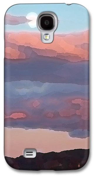 Sunset Abstract Galaxy S4 Cases - Amador Moon Galaxy S4 Case by Charlette Miller