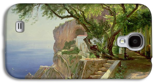 Perspective Paintings Galaxy S4 Cases - Amalfi Galaxy S4 Case by Carl Frederick Aagaard