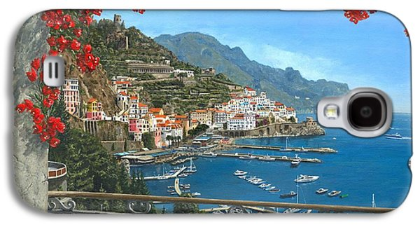 Old Town Digital Art Galaxy S4 Cases - Amalfi Galaxy S4 Case by MGL Meiklejohn Graphics Licensing