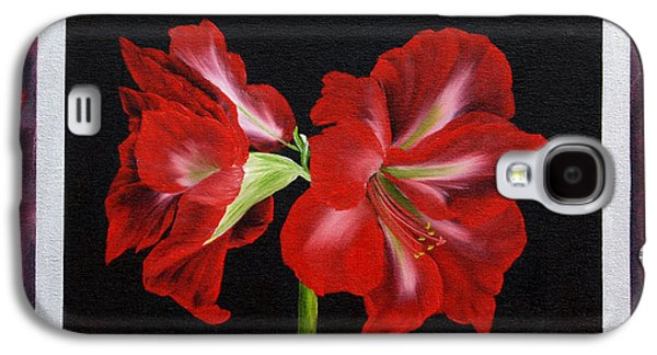 """""""indoor"""" Still Life Paintings Galaxy S4 Cases - Amaryllis Galaxy S4 Case by  ILONA ANITA TIGGES - GOETZE  ART and Photography"""