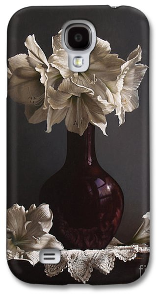 American Paintings Galaxy S4 Cases - Amaryllis  Galaxy S4 Case by Larry Preston