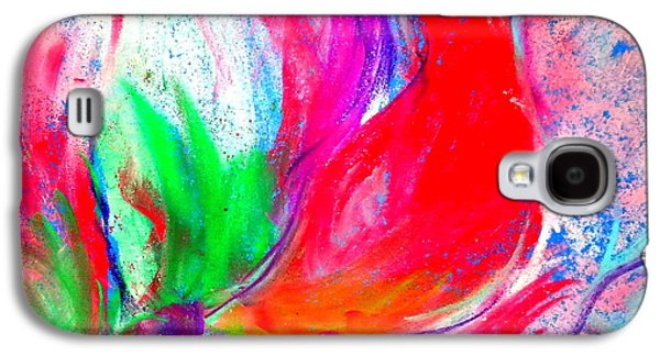 Drawing Galaxy S4 Cases - Funky Amaryllis lily Galaxy S4 Case by Sue Jacobi