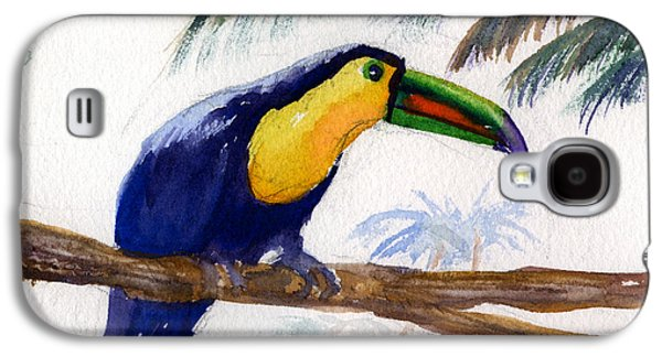 Yellow Beak Paintings Galaxy S4 Cases - Amazonian Galaxy S4 Case by Mohamed Hirji