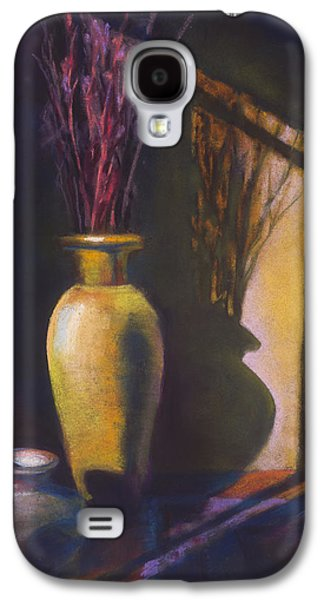 Interior Still Life Pastels Galaxy S4 Cases - Amber Afternoon Galaxy S4 Case by Marjie EakinPetty
