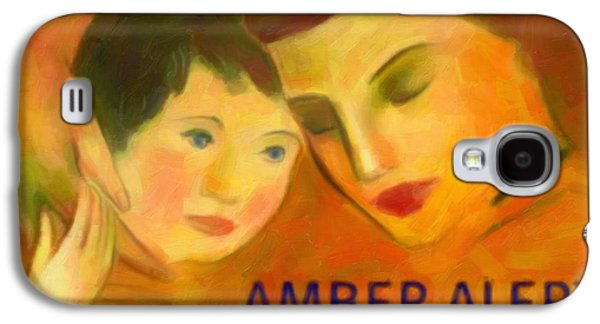 Missing Child Paintings Galaxy S4 Cases - Amber Alert Galaxy S4 Case by Lanjee Chee