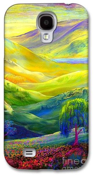 Wildflower Meadows, Amber Skies Galaxy S4 Case by Jane Small
