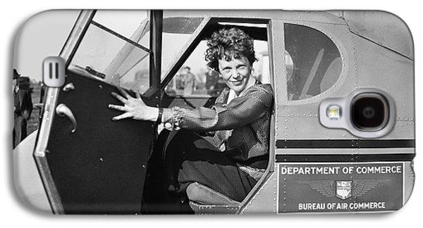 Cockpit Photographs Galaxy S4 Cases - Amelia Earhart - 1936 Galaxy S4 Case by Daniel Hagerman