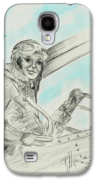 Aviator Drawings Galaxy S4 Cases - Amelias Ghost Galaxy S4 Case by P J Lewis