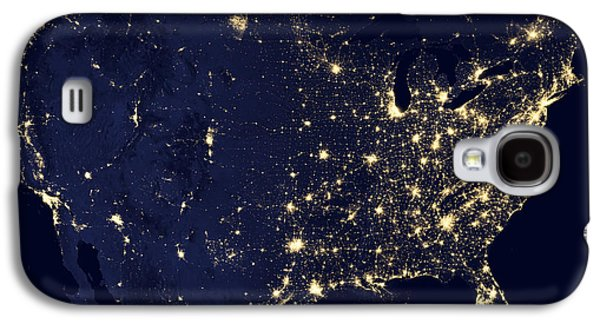 Nature Study Photographs Galaxy S4 Cases - America at Night Galaxy S4 Case by Adam Romanowicz