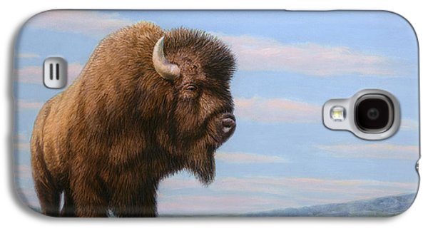 Nature Drawings Galaxy S4 Cases - American Bison Galaxy S4 Case by James W Johnson