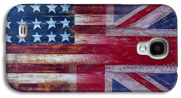 American British Flag 2 Galaxy S4 Case by Garry Gay