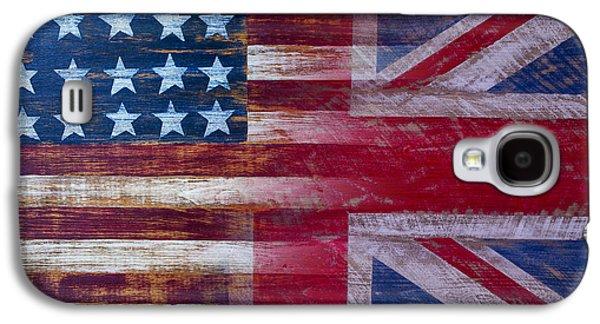 American British Flag Galaxy S4 Case by Garry Gay