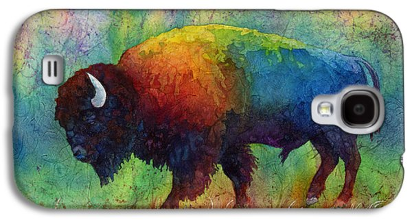 Bison Paintings Galaxy S4 Cases - American Buffalo 6 Galaxy S4 Case by Hailey E Herrera