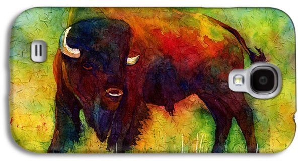 Modern Abstract Galaxy S4 Cases - American Buffalo Galaxy S4 Case by Hailey E Herrera