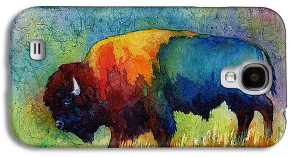 Nature Abstract Paintings Galaxy S4 Cases - American Buffalo III Galaxy S4 Case by Hailey E Herrera