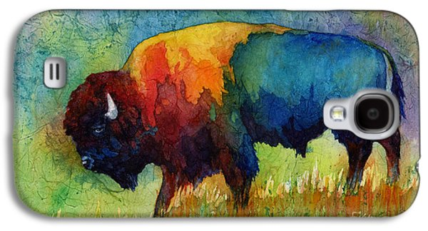 Abstract Nature Paintings Galaxy S4 Cases - American Buffalo III Galaxy S4 Case by Hailey E Herrera