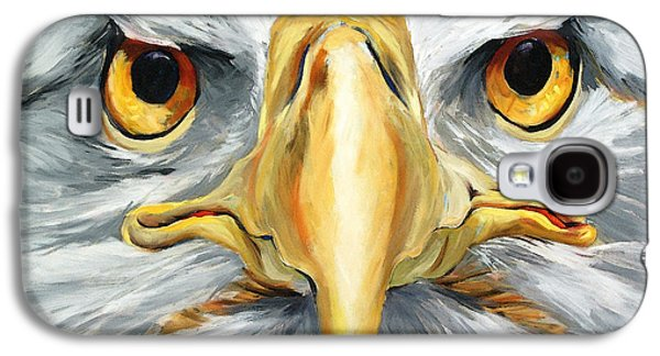 Eagle Mixed Media Galaxy S4 Cases - American Eagle - Bald Eagle By Betty Cummings Galaxy S4 Case by Betty Cummings