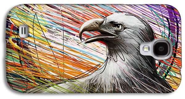 4th July Mixed Media Galaxy S4 Cases - American Eagle Galaxy S4 Case by Bedros Awak