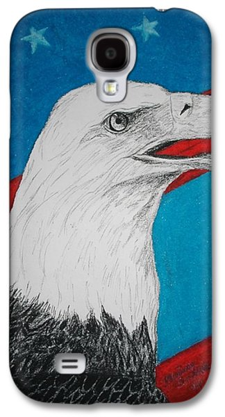 4th July Mixed Media Galaxy S4 Cases - American Eagle Galaxy S4 Case by Maricay Smeenk