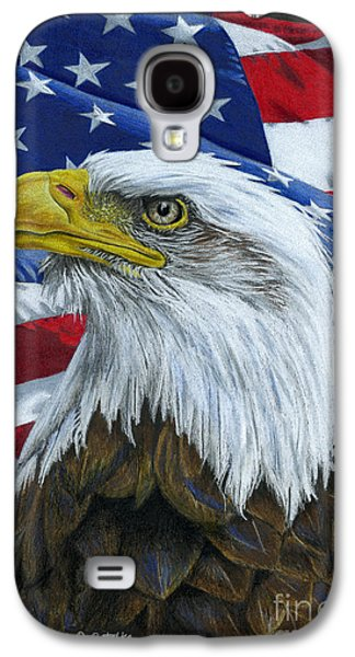 4th July Galaxy S4 Cases - American Eagle Galaxy S4 Case by Sarah Batalka