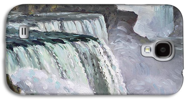 Americans Galaxy S4 Cases - American Falls Niagara Galaxy S4 Case by Ylli Haruni