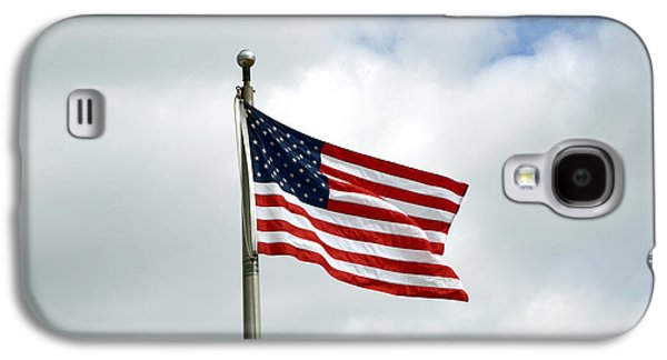 Landmarks Photographs Galaxy S4 Cases - American Flag 2 Galaxy S4 Case by Alys Caviness-Gober