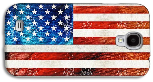 Patriotism Paintings Galaxy S4 Cases - American Flag Art - Old Glory - By Sharon Cummings Galaxy S4 Case by Sharon Cummings