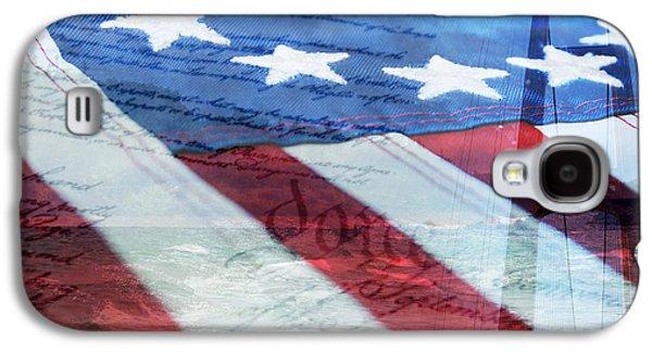 Rollosphotos Digital Art Galaxy S4 Cases - American Flag Galaxy S4 Case by Christina Rollo