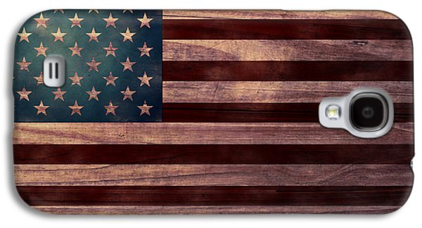 4th July Digital Galaxy S4 Cases - American Flag I Galaxy S4 Case by April Moen