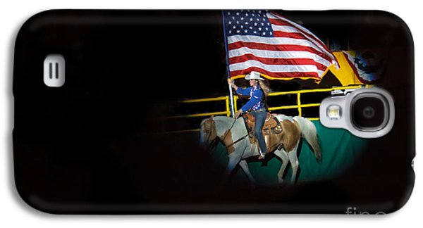 Betsy Galaxy S4 Cases - American Flag On Display Galaxy S4 Case by Robert Bales