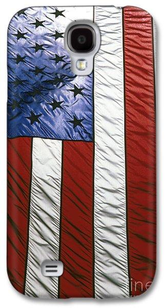 American Flag Galaxy S4 Case by Tony Cordoza