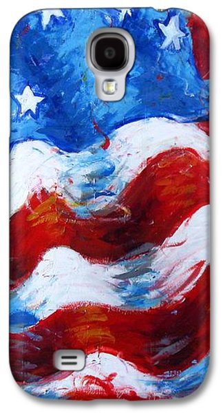 American Independance Mixed Media Galaxy S4 Cases - American Flag Galaxy S4 Case by Venus