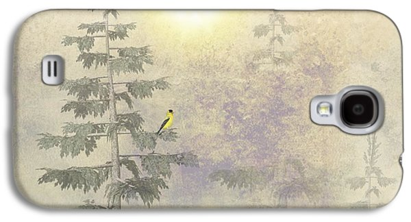 Business Galaxy S4 Cases - American Goldfinch Morning Mist  Galaxy S4 Case by David Dehner