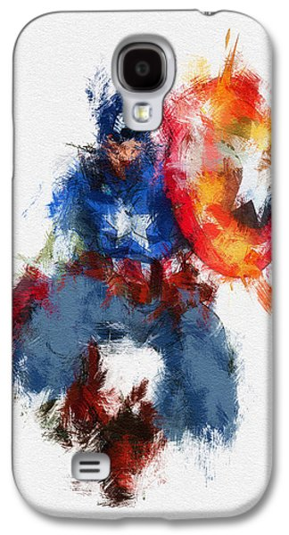 Character Portraits Galaxy S4 Cases - American Hero Galaxy S4 Case by Miranda Sether