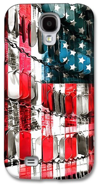 Fourth Of July Mixed Media Galaxy S4 Cases - American Heroes Galaxy S4 Case by Dan Sproul