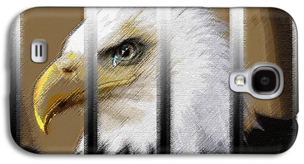 Torn Pastels Galaxy S4 Cases - American Heroes Unjustly Behind Bars Galaxy S4 Case by George Pedro