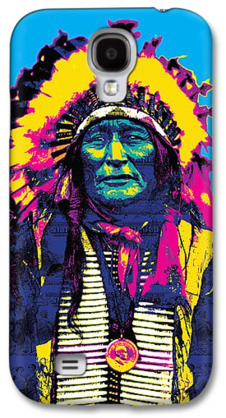 Recently Sold -  - Digital Galaxy S4 Cases - American Indian Chief Galaxy S4 Case by Gary Grayson