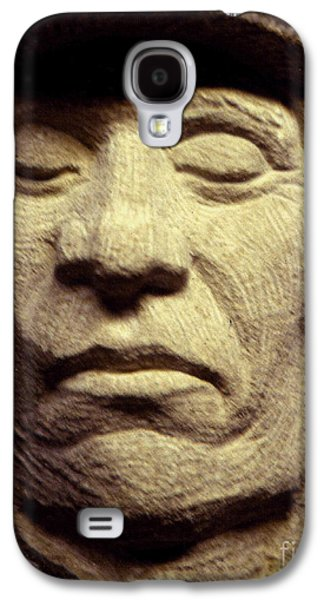 Native Sculptures Galaxy S4 Cases - American-Indian-Portrait 2 Galaxy S4 Case by Gordon Punt