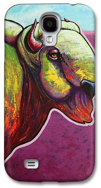 Bison Paintings Galaxy S4 Cases - American Monarch Galaxy S4 Case by Joe  Triano