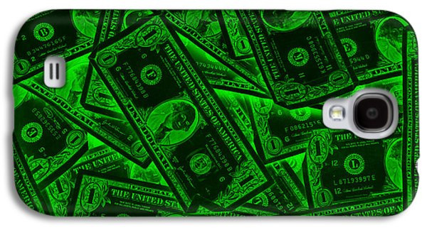Investment Galaxy S4 Cases - American One Dollar Bills Pop Art Galaxy S4 Case by Keith Webber Jr