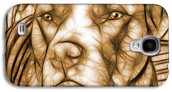 American Pit Bull - Sepia Sketch  Galaxy S4 Case by Michael Spano