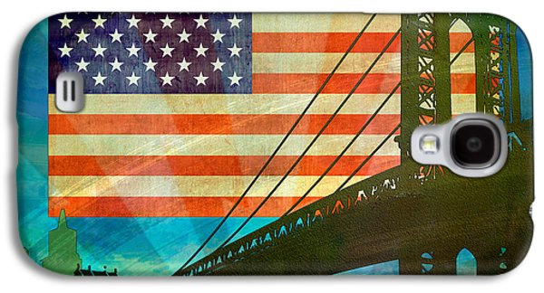 Usa Flag Mixed Media Galaxy S4 Cases - American Pride Galaxy S4 Case by Bedros Awak