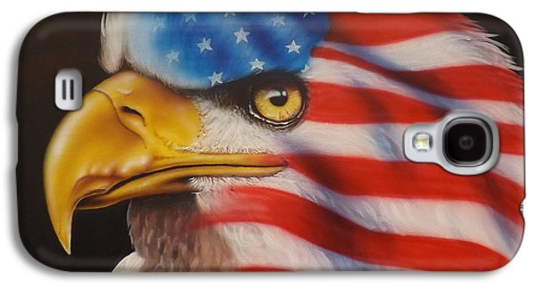 Patriotism Paintings Galaxy S4 Cases - American Pride Galaxy S4 Case by Darren Robinson