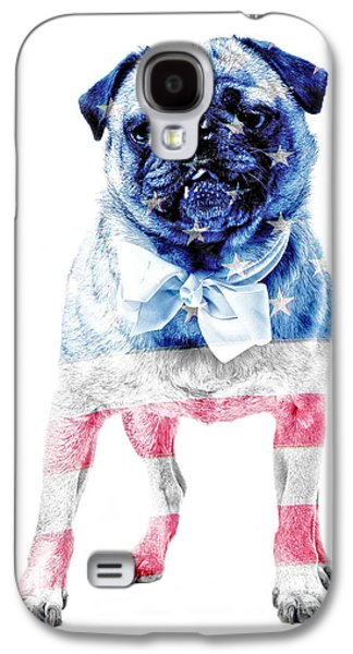 Studio Photographs Galaxy S4 Cases - American Pug Galaxy S4 Case by Edward Fielding