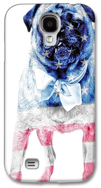 Fourth Of July Galaxy S4 Cases - American Pug Phone Case Galaxy S4 Case by Edward Fielding