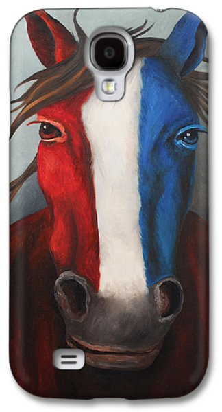 4th July Paintings Galaxy S4 Cases - American Spirit Galaxy S4 Case by Leah Saulnier The Painting Maniac