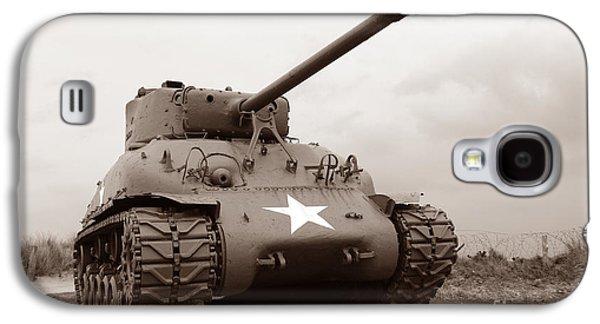 Armor Galaxy S4 Cases - American Tank Galaxy S4 Case by Olivier Le Queinec